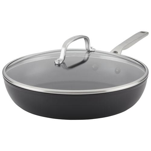 """KitchenAid 12.25"""" Hard-Anodized Aluminum Frying Pan - Black"""