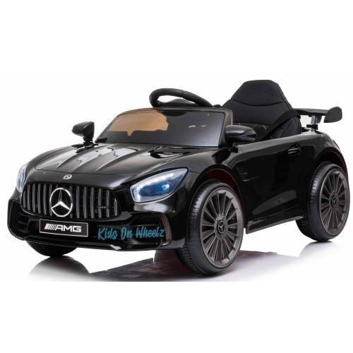 Kids On Wheelz, Mercedes Benz AMG GTR 1-Seat 12V RIDE-ON-CAR FOR KIDS - Music - LED Lights - Powered Display - BLACK