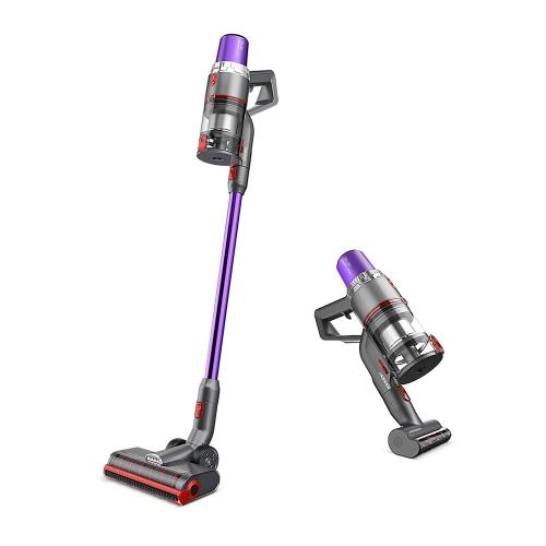 JASHEN V16 350W HEPA Cordless Stick Vacuum Cleaner for Hardwood Floors, Carpet/Rug, Pet Hair - Purple