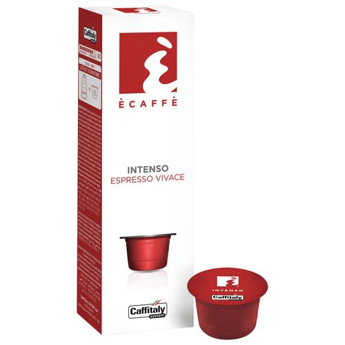 Dosettes de café de torréfaction foncée Intenso de Caffitaly - Paquet de 10