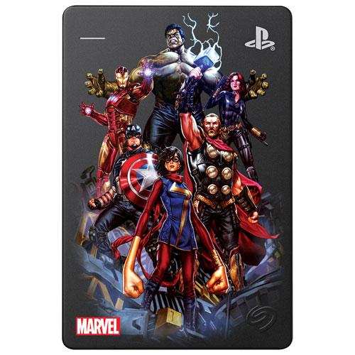 Disque dur externe portatif de 2 To Marvel's Avengers de Seagate pour PS4