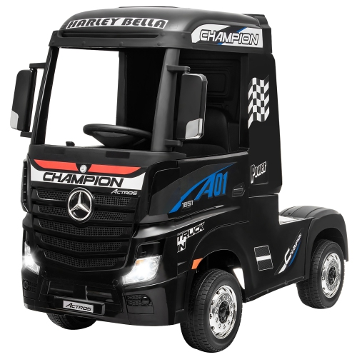 Costway 12V Mercedes Benz Actros Electric Kids Ride on Truck w/Remote Control&MP3