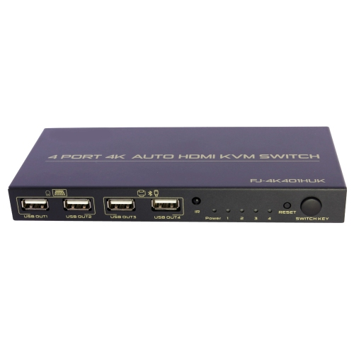 4 in 2 Out HDMI KVM Switch Quad Multi-Viewer 4 Port with Seamless Switcher Function and Hotkey Switch Dual Monitor Support 1080p@60Hz for PC//STB//DVD