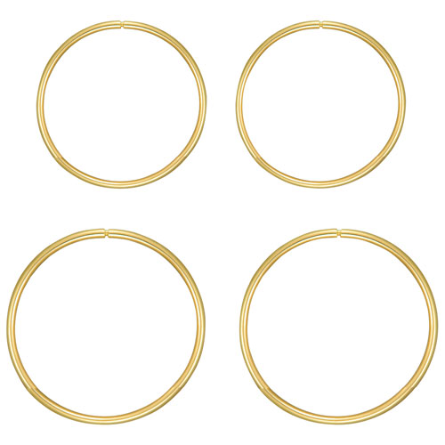 Le Reve Collection Kids' 11mm & 13mm Hoop Sleeper Earring Set in 10K Gold