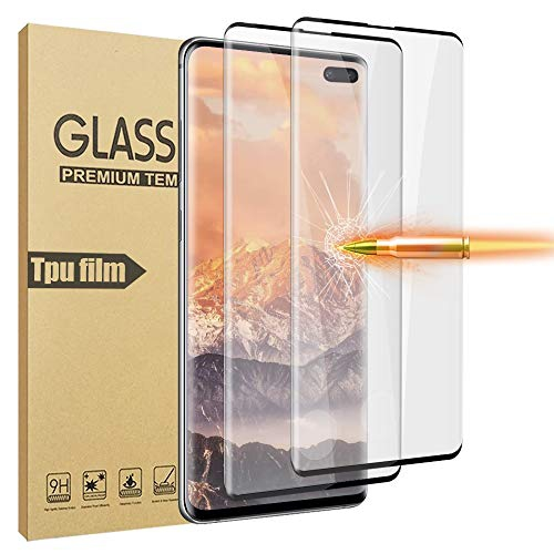 2 Pack Support Fingerprint Sensor HD Tempered Glass Screen Protector Compatible with Samsung Galaxy S10 ScratchProof Galaxy S10 Screen Protector, 9H Hardness No Bubbles
