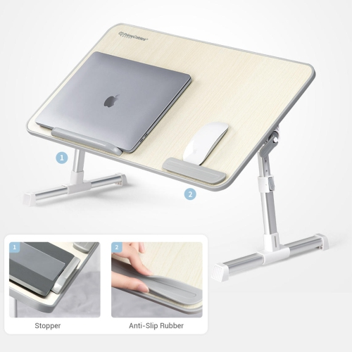 """Adjustable Laptop Stand Portable Laptop Bed Table with Foldable Legs for 17"""" Laptop"""