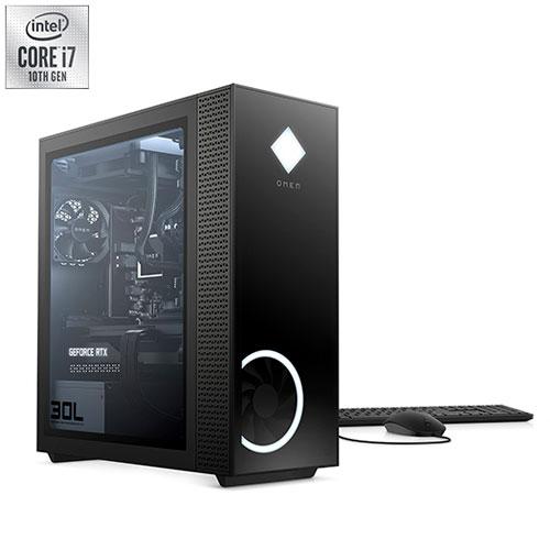 HP OMEN 30L Desktop PC (Intel Core i7-10700KF/1TB SSD/16GB RAM/GeForce RTX 3070) - English GT13-0070