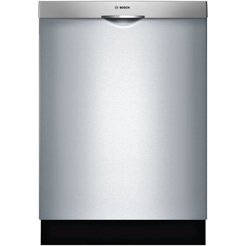 """Bosch 24"""" 46dB Built-In Dishwasher with Stainless Steel Tub - Stainless Steel"""