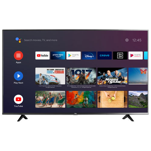 """TCL 4-Series 65"""" 4K UHD HDR LED Android Smart TV - 2021"""