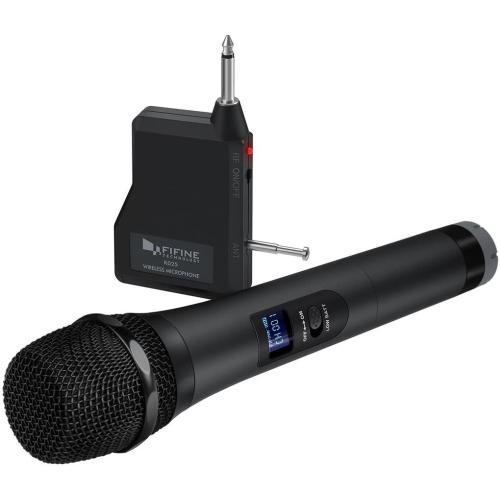 FIFINE Handheld Dynamic Microphone Wireless mic System for Karaoke Nights - Open Box