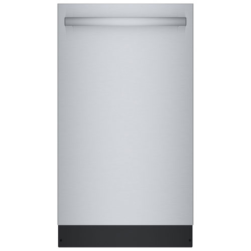 """Bosch 18"""" 44dB Built-In Dishwasher with Stainless Steel Tub & Third Rack - Stainless"""