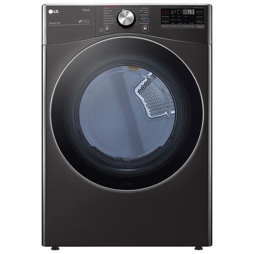 LG 7.4 Cu. Ft. Electric Steam Dryer - Black Steel
