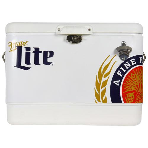 Réfrigérateur de bar autonome de 1,8 pi³ Miller Lite - Acier inoxydable