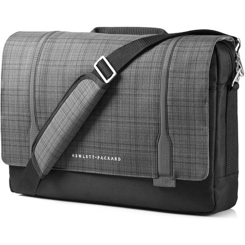 HP Slim Ultrabook Messenger, Twill, Black & Gray,