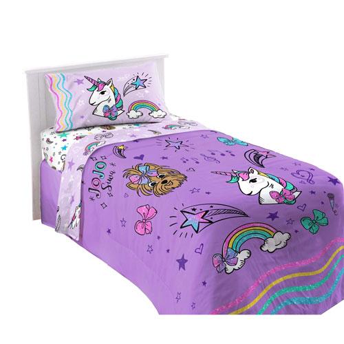 Nickelodeon Jojo Siwa 3-Piece Bed Sheet Set - Twin - Sparkle Shine