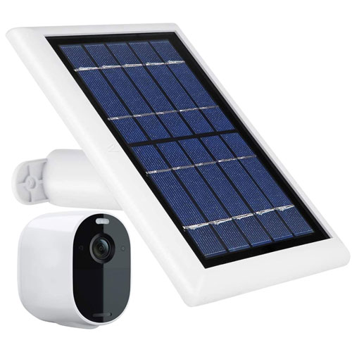 Wasserstein Solar Panel with Cable for Arlo Spotlight Camera - White