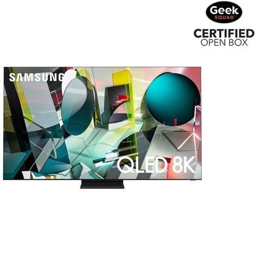 "Samsung 75"" 8K UHD HDR QLED Tizen Smart TV - Stainless Steel - Open Box"