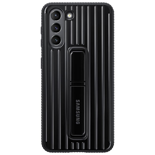 Samsung Protective Standing Cover Fitted Hard Shell Case for Galaxy S21 - Black
