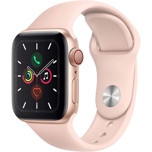 Apple Watch Series 5 40mm Gold Aluminum with Pink Sand Sport Band - Certified Refurbished
