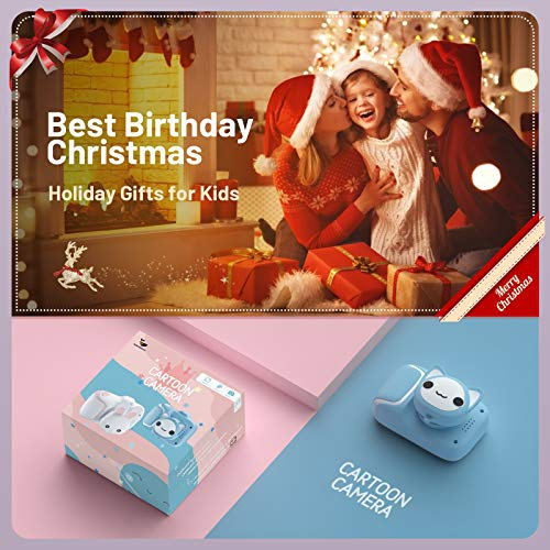 Blue Kids Camera,HONEYWHALE Digital Camera for Kids 2.0 Inch IPS Screen HD Video Cameras for Toddler,Best Birthday Gifts for Boys Girls 3 4 5 6 7 8 9 Years Old