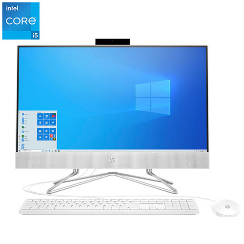 """HP 23.8"""" All-in-One Desktop PC - Snow White -Eng"""