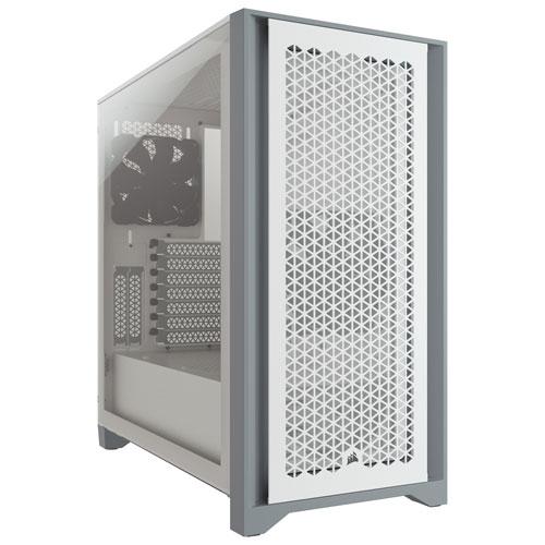 Corsair 4000D Airflow Mid-Tower ATX Computer Case - White