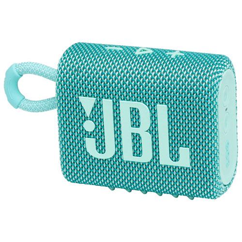 Haut-parleur sans fil Bluetooth étanche Go 3 de JBL - Sarcelle