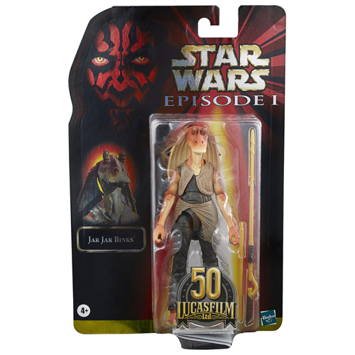 Star Wars The Black Series Jar Jar Binks 6-Inch-Scale The Phantom Menace Collectible Deluxe Action Figure Kids Ages 4 and Up