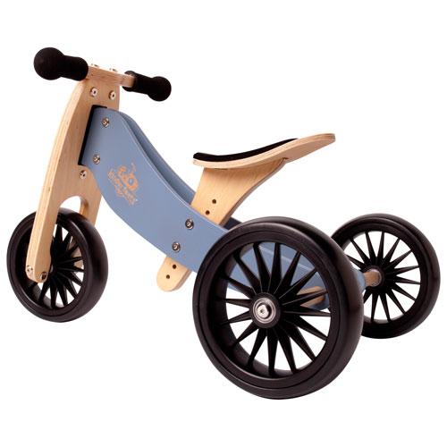 Kinderfeets Tiny Tot Plus 2-in-1 Kids Balance Trike/Bike - Slate Blue