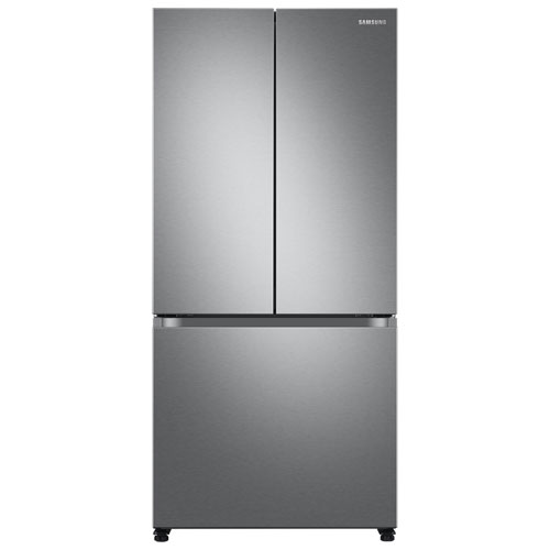"""Samsung 33"""" 17.5 Cu. Ft. Counter-Depth French Door Refrigerator with Ice Dispenser - SS"""