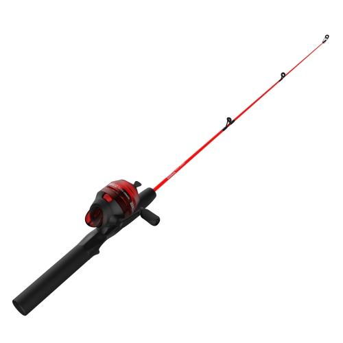 Ensemble à lancer à bouton-poussoir Dock Demon rouge 30 po 1 pièce puissance moyenne 6 lb de Zebco