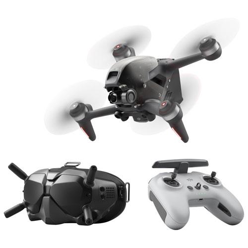 Drone quadricoptère FPV de DJI avec caméra et manette - Gris foncé