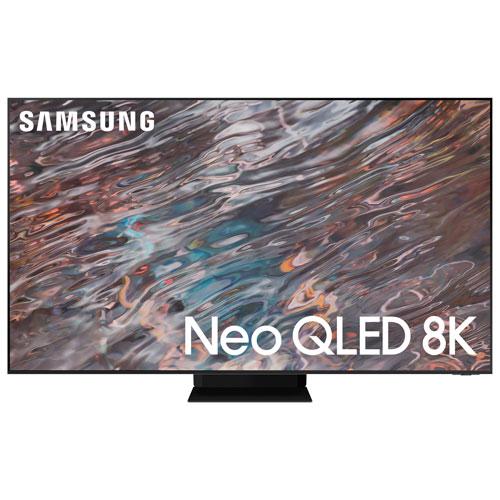 Téléviseur intelligent SE Tizen HDR QLED UHD 8K de 65 po de Samsung - 2021 - Inox