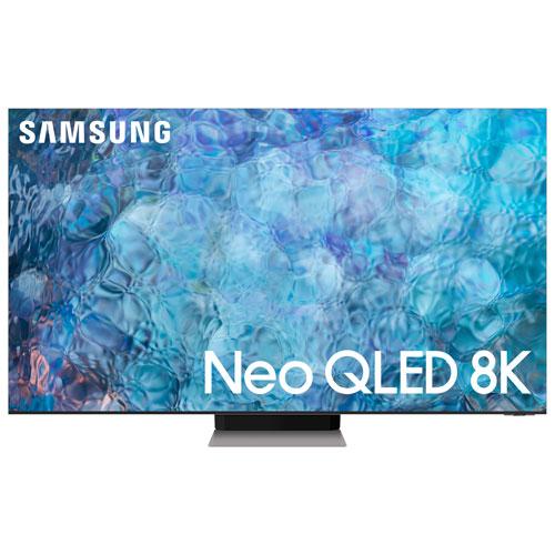 Téléviseur intelligent SE Tizen HDR QLED UHD 8K de 85 po de Samsung - 2021 - Inox