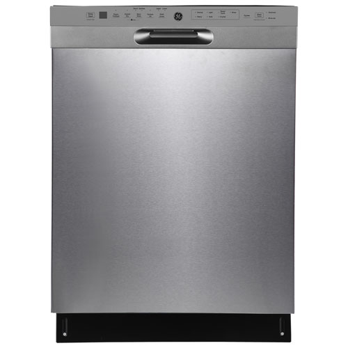 Lave-vaisselle encastrable 24 po 48 dB avec cuve inox et troisième panier de GE - Inox