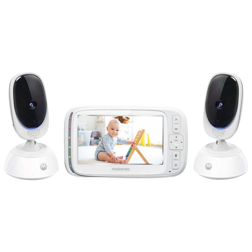 """Motorola 5"""" Video Baby Monitor with 2 Cameras and Night Vision - Open Box"""