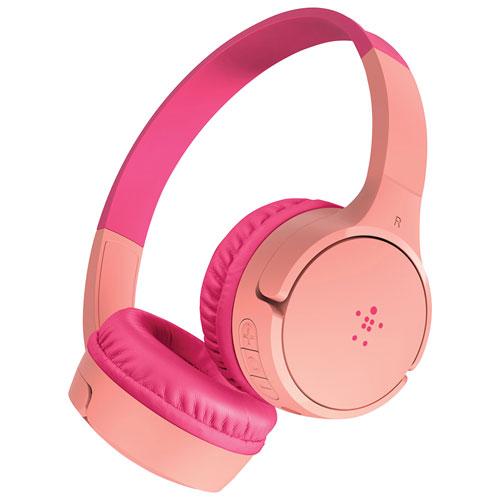 Belkin SoundForm Mini On-Ear Bluetooth Kids Headphones - Pink