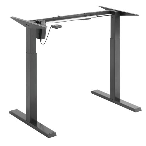 Uplite Cadre de bureau assis/debout électrique, Base de poste de travail ergonomique réglable en hauteur et en largeur, Cadre de table solide motoris