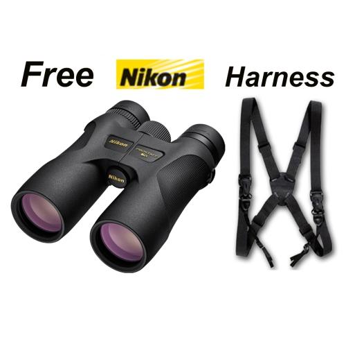 Nikon Prostaff 7S 10x42 Roof Prism Binoculars #16003 + Deluxe Harness