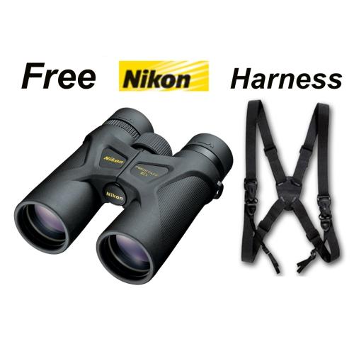Nikon Prostaff 3s 8x42 Roof Prism Binoculars #16030 + Deluxe Harness