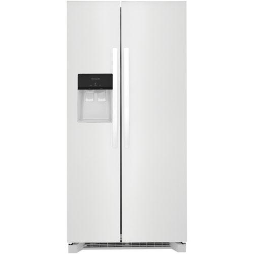 Réfrigérateur, congél. juxtaposé 22,2 pi³ 33 po Frigidaire, distrib. eau/glaçons -Blanc