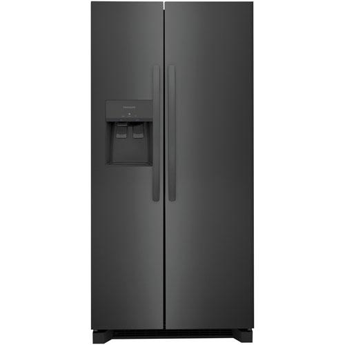 Réfrigérateur, congél. juxtaposé 22,2 pi³ 33 po Frigidaire, distrib. eau/glaçons - Noir