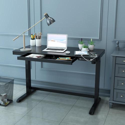 Height Adjustable Standing Desk Sit to Stand Workstation,Electric Frame Black