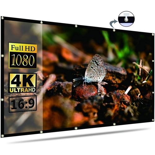 Projector Screen Indoor Outdoor Portable Movie Screens 16:9 for Home Theater Cinema Indoor Outdoor - axGear