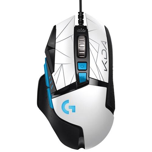 Logitech G502 K/DA LIGHTSPEED 25600 DPI HERO Optical Gaming Mouse - White