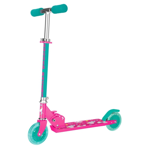 Rugged Racer Two Wheel Scooter with Unicorn Design & LED Lights