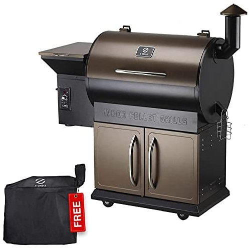 Z GRILLS ZPG-700D Wood Pellet Grill & Electric Smoker BBQ Combo with Auto Temperature Control, 2021 Upgrade, 694 sq in Bronze