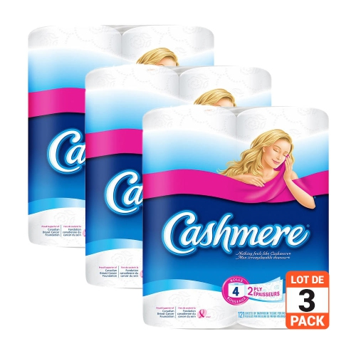 Cashmere Bathroom Tissue Toilet Paper Double Roll 2-Ply 253 Sheets Per Roll - 3Pack