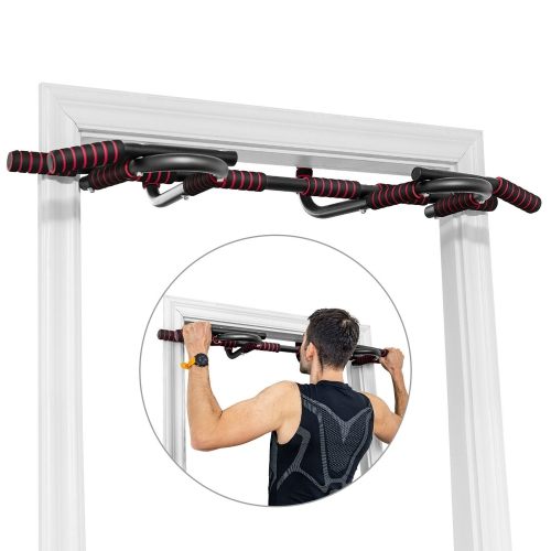 Gymax Multi-Purpose Pull Up Bar Doorway Fitness Chin Up Bar No Screw Home Gym