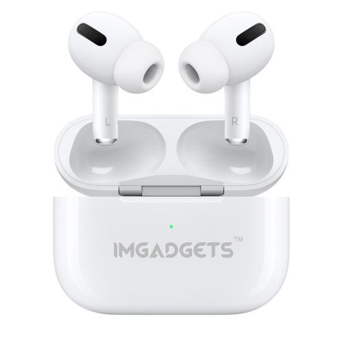 IMGadgets WavePods Pro, écouteurs intra-auriculaires Airpods, True sans fil Bluetooth 5.0 avec microphone intégré, étui de chargement sans fil compat